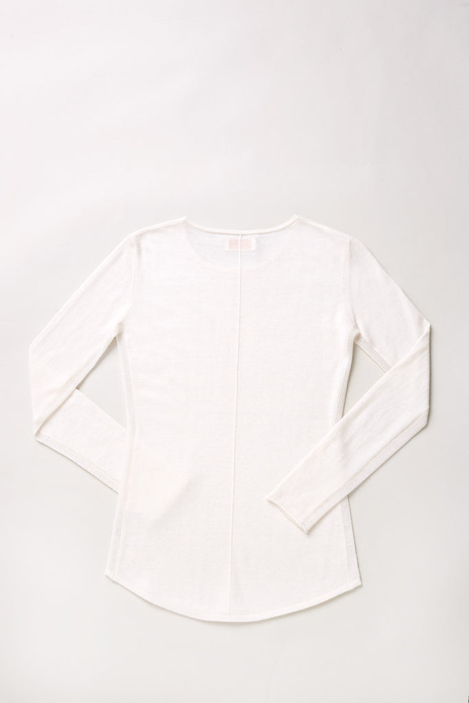 Mover-Breather Cashmere Sweater - Winter White - Movers & Cashmere
