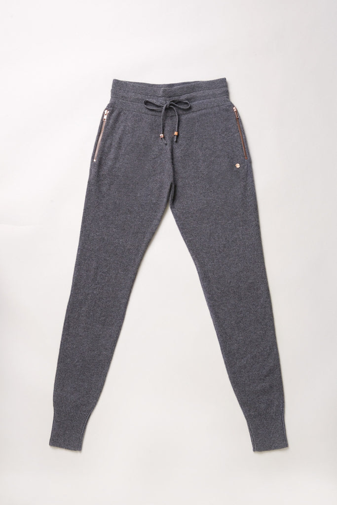 Go-Getter Cashmere Track Pants - Uniform Grey - Movers & Cashmere