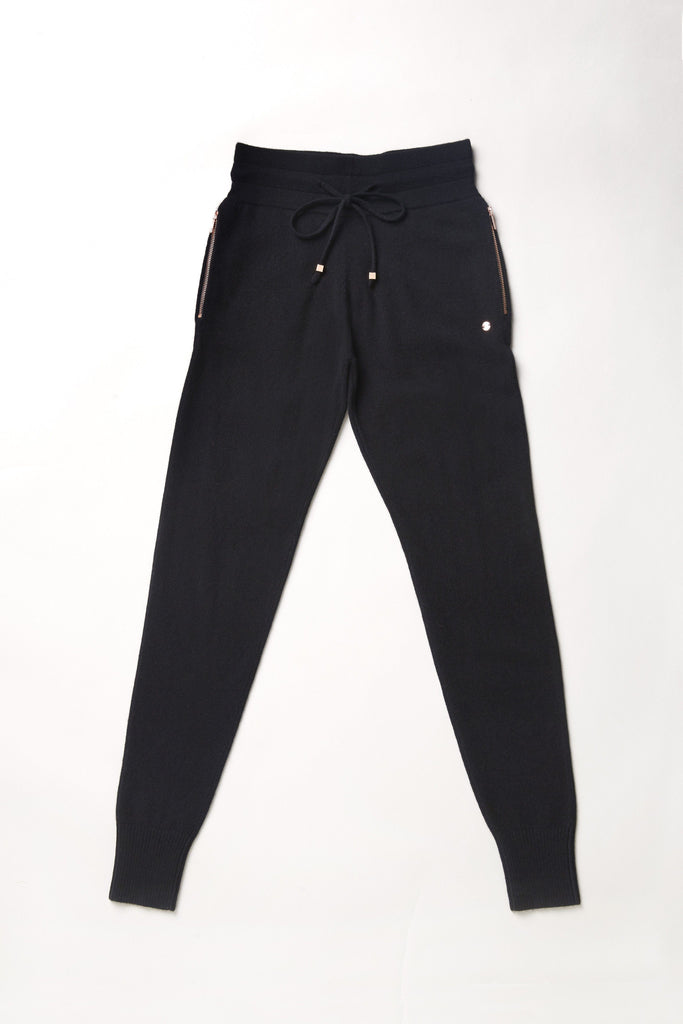 Go-Getter Cashmere Track Pants - Black - Movers & Cashmere