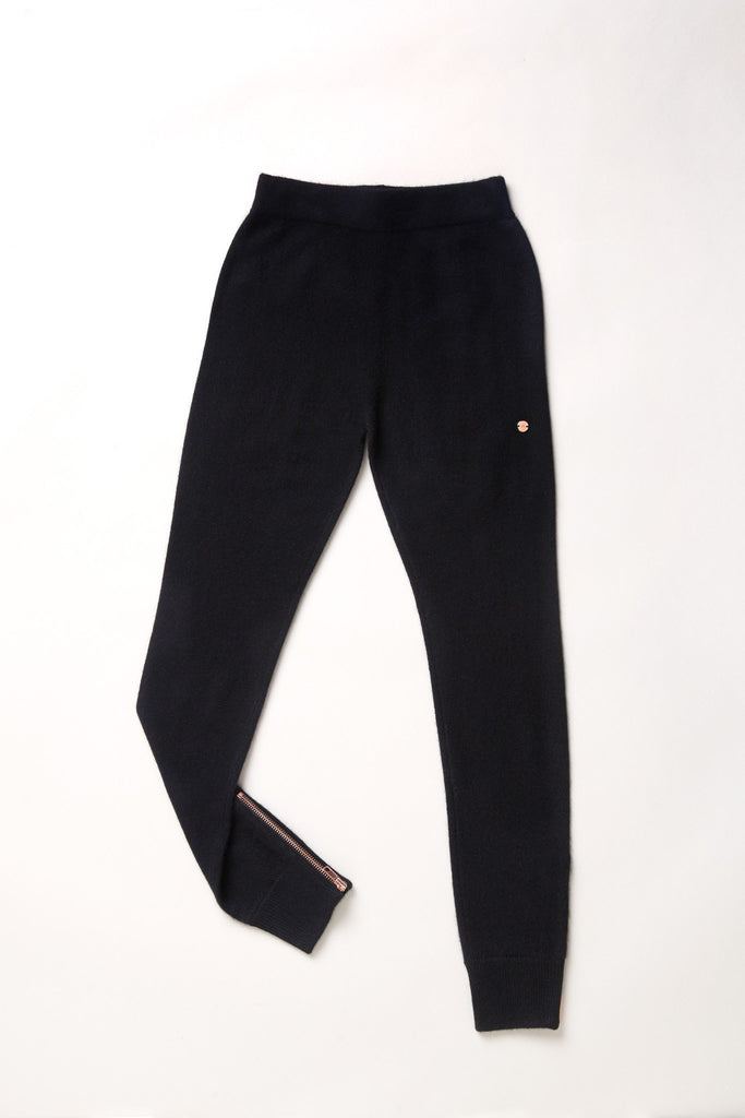 Go-Getter Cashmere Leggings - Black - Movers & Cashmere