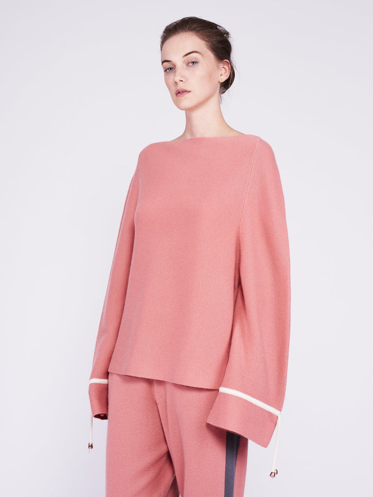 CMMC Bell Sleeve Cashmere Sweater - Sakura x White - Movers & Cashmere