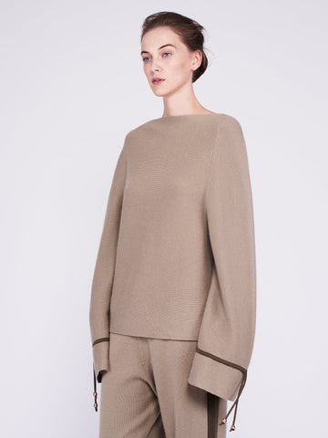 CMMC Bell Sleeve Cashmere Sweater - Moss x Military [Coming Soon] - Movers & Cashmere