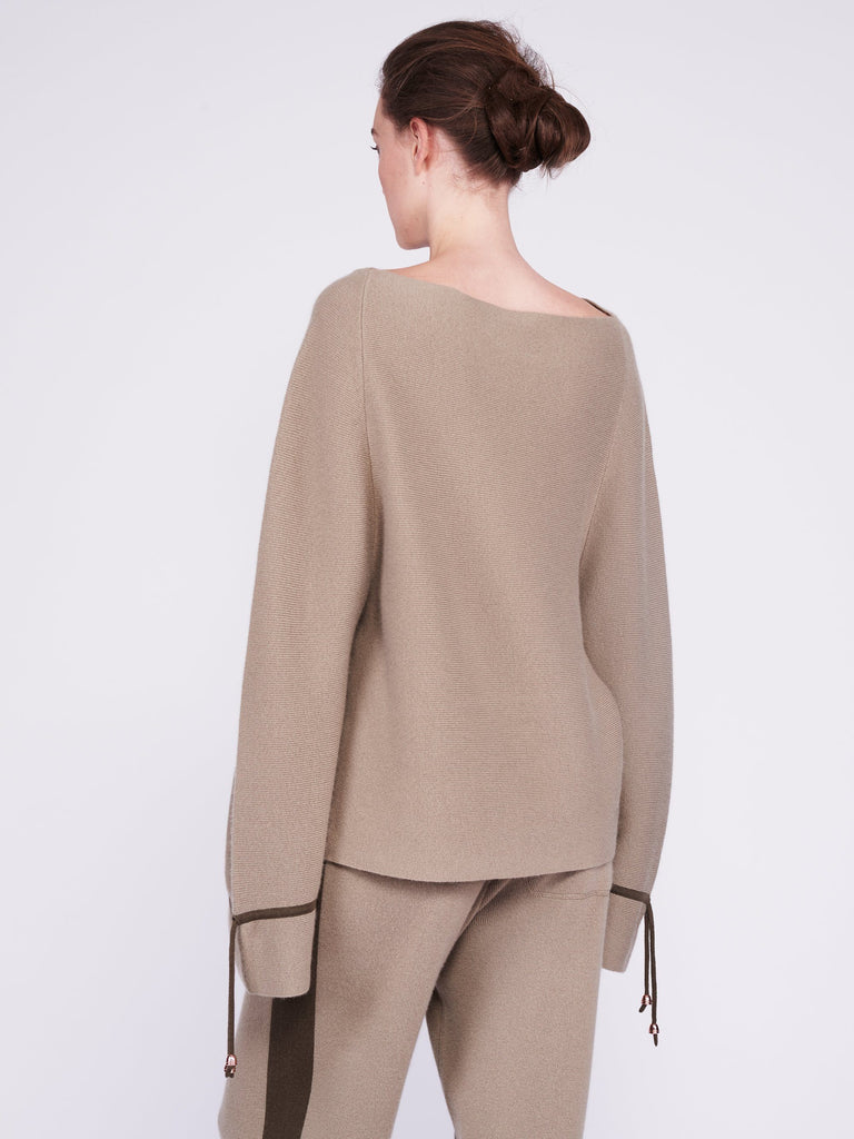 CMMC Bell Sleeve Cashmere Sweater - Moss x Military - Movers & Cashmere