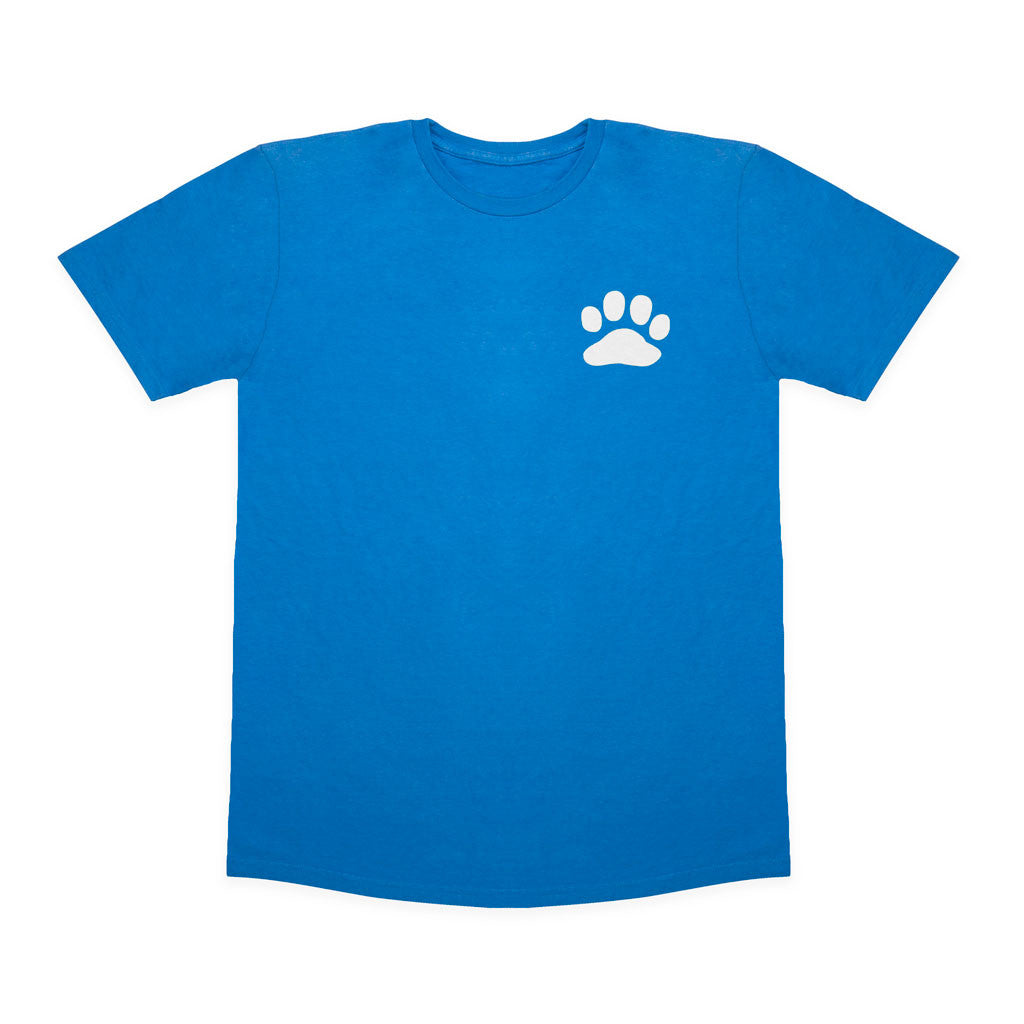 Paws For A Cause 100% Cotton Blue White T-Shirt
