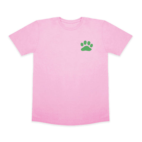 Paws For A Cause 100% Cotton Pink Green T-Shirt