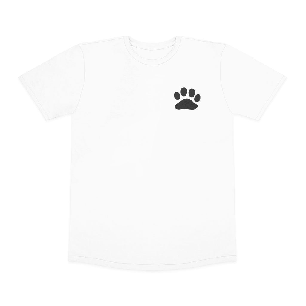 Paws For A Cause 100% Cotton White Black T-Shirt
