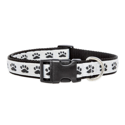 Paws For A Cause Dog Collar Black White