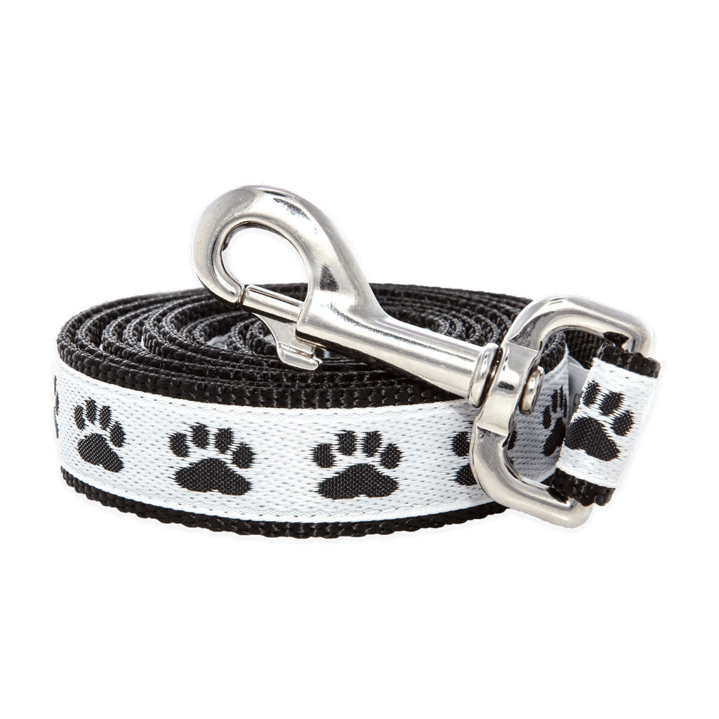 Paws For A Cause Black White Dog Leash Lead