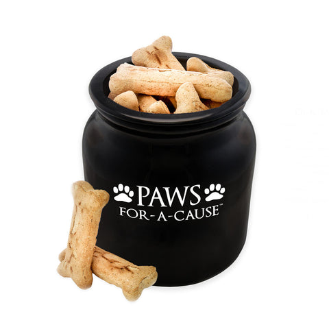 Paws For A Cause Black Dog Treat Biscuit Jar