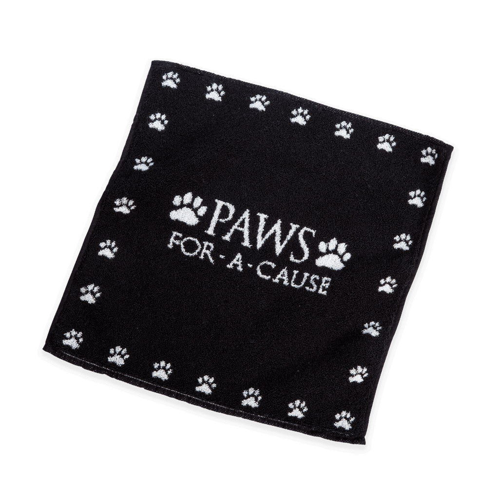 Paws For A Cause Black White Dog Towel