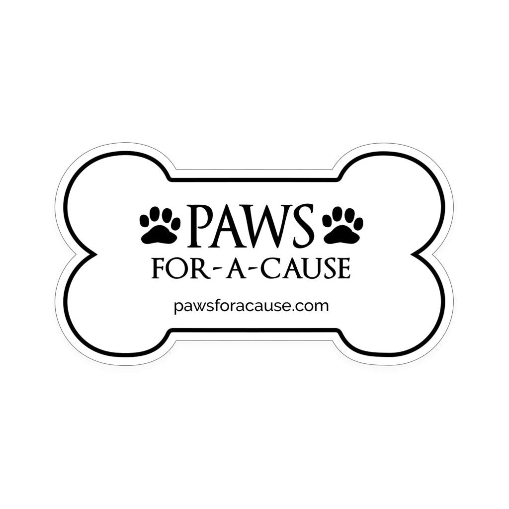 Paws For A Cause Large Bumper Sticker