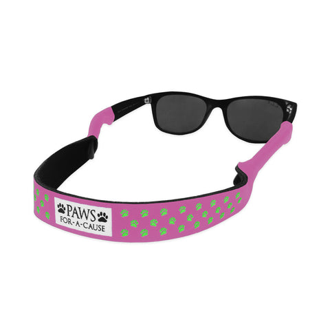 Paws For A Cause Pink Green Sunglass Straps Croakies