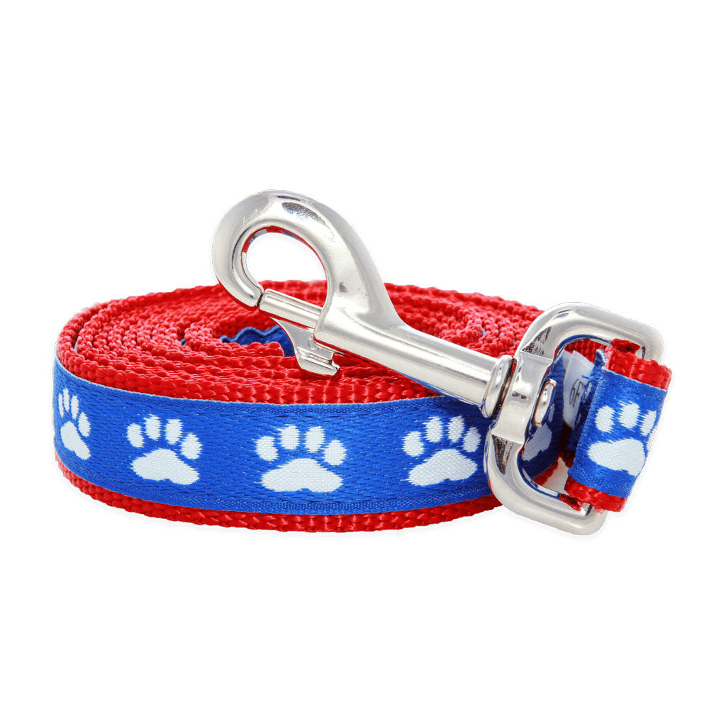 Paws For A Cause Red White Blue Dog Leash Lead