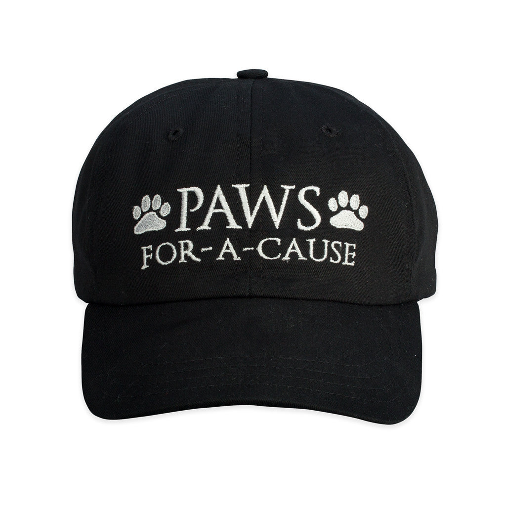 Paws For A Cause Cotton Twill Black White Hat