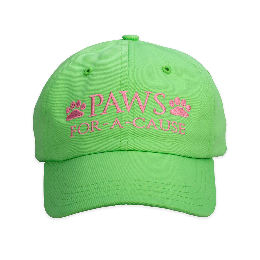 Paws For A Cause Cotton Twill Green Pink Hat