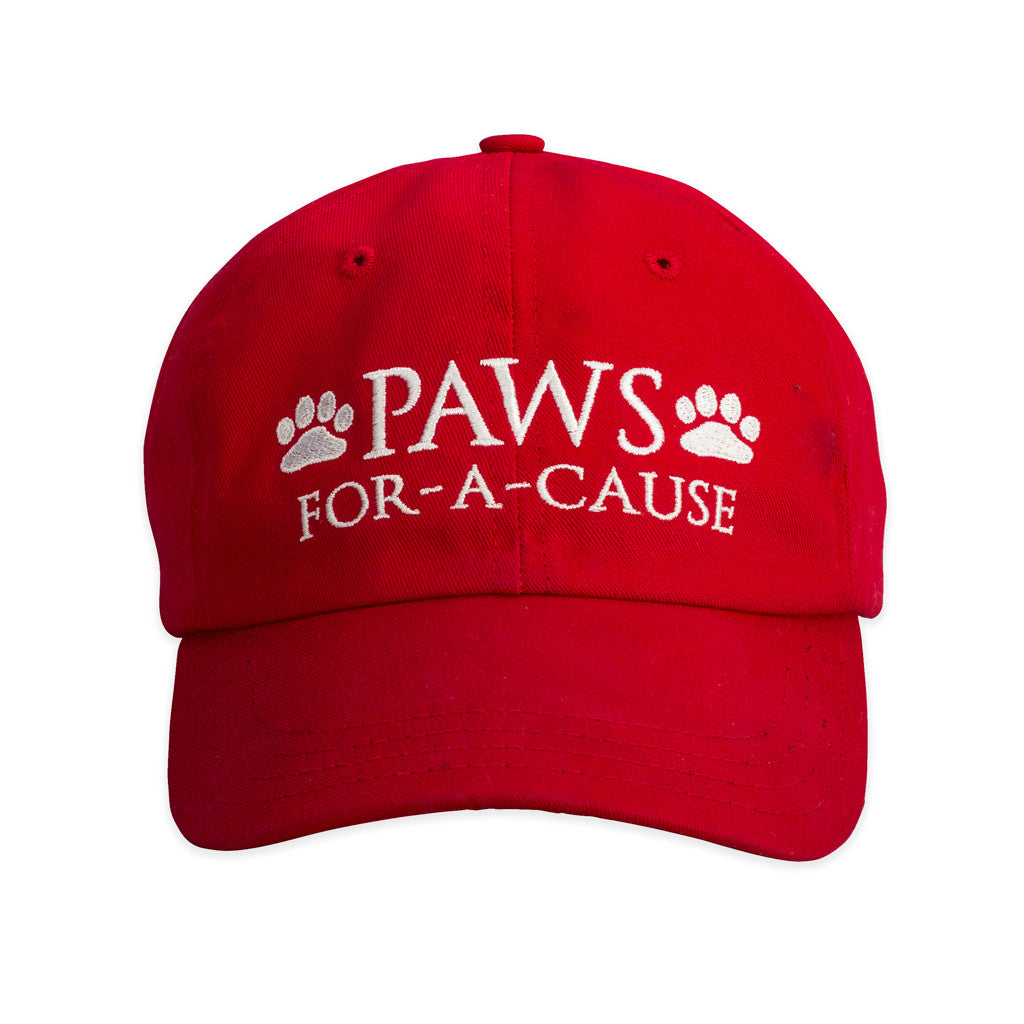 Paws For A Cause Cotton Twill Red White Blue Hat