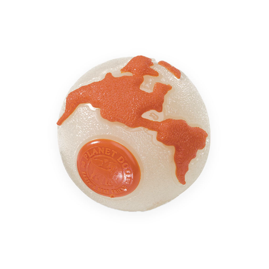Planet Dog Orange Glow In Dark Orbee-Tuff Ball