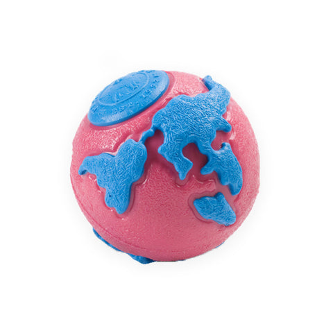 Planet Dog Pink Blue Orbee-Tuff Ball