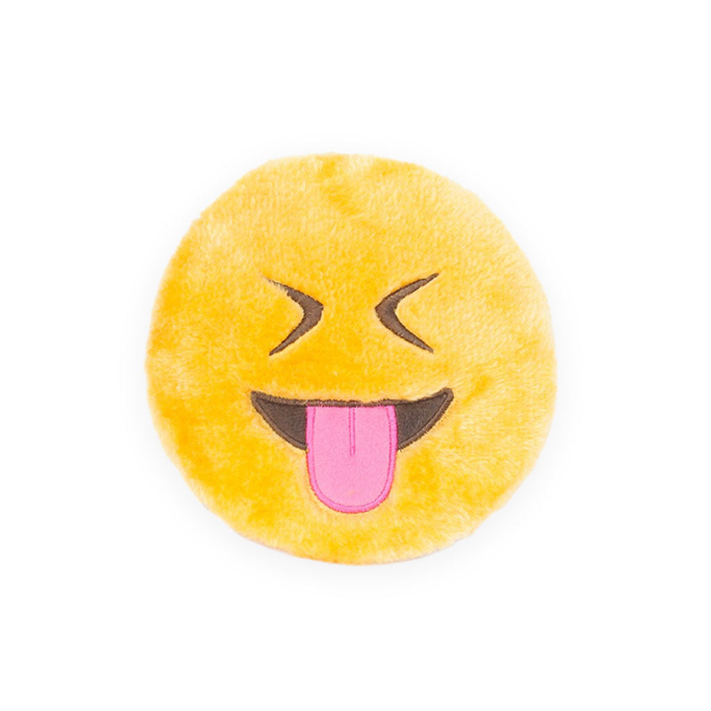 Zippy Paws Squeakie Emojiz Tongue Plush Dog Toy