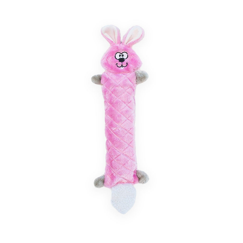 Zippy Paws Jigglerz Plush Squeak Dog Toy Bunny