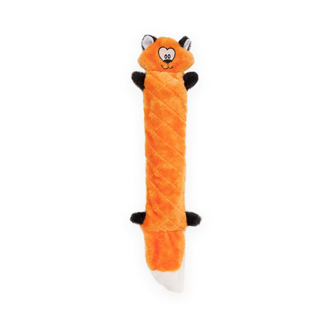 Zippy Paws Jigglerz Plush Squeak Dog Toy Fox