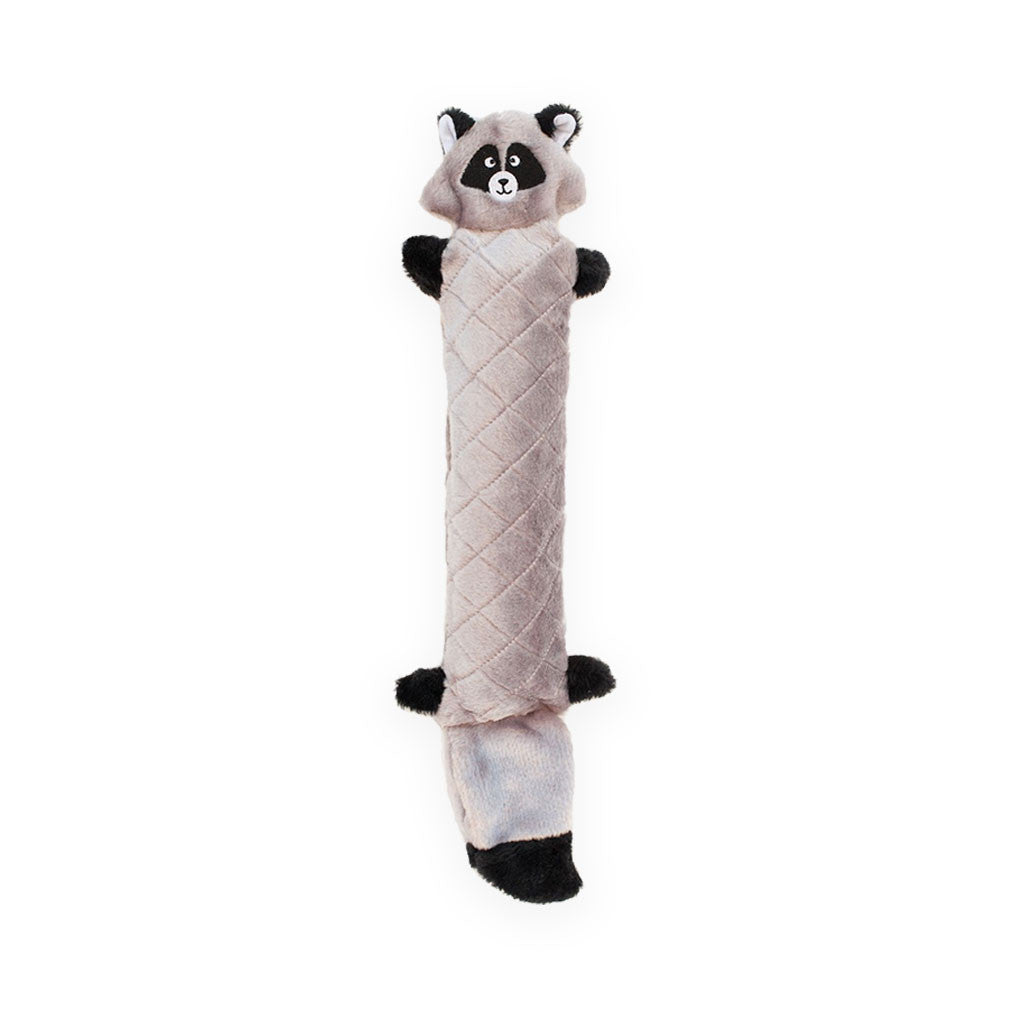 Zippy Paws Jigglerz Plush Squeak Dog Toy Racoon