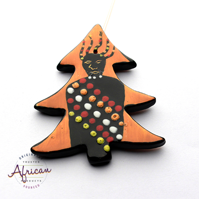 Ceramic Christmas Tree Decoration Zulu
