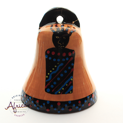 Ceramic Christmas Bell Decoration Zulu