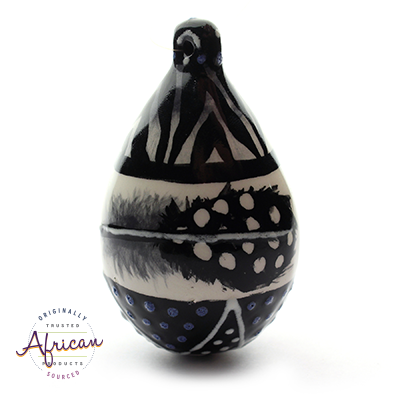 Ceramic Christmas Tear Drop Decoration Ndebele