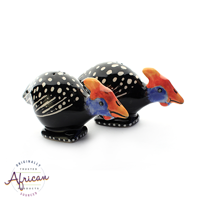 Ceramic Guinea Fowl Salt and Pepper Set