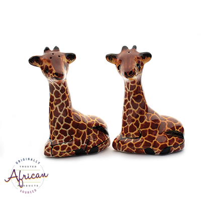 Ceramic Giraffe Salt and Pepper Set