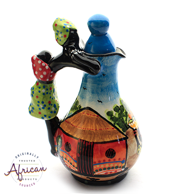 Ceramic Salad Dressing Bottles Village