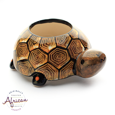 Ceramic Tortoise Egg Cup Holder