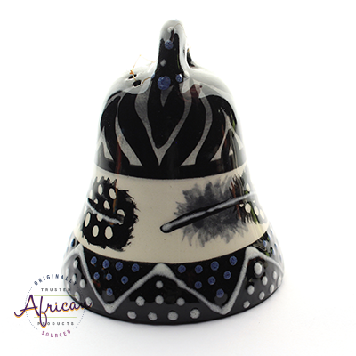 Ceramic Christmas Bell Decoration Ndebele