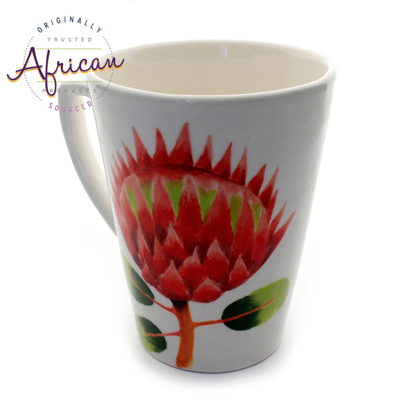 Ceramic Coffee/Tea Mug - Protea Flower