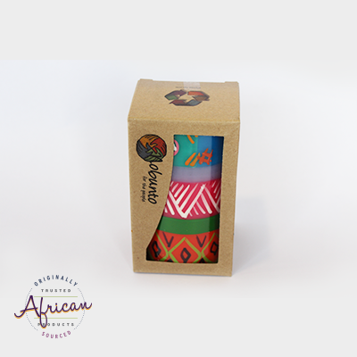 1 x  Pillar Candle in Recycled Gift Box - Shahida