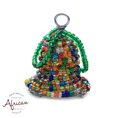 Beaded 3D Christmas Bell (Multi Coloured)