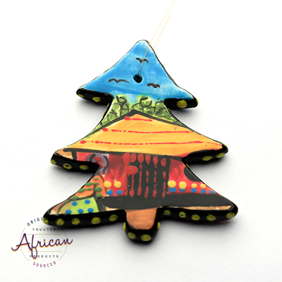 Ceramic Christmas Tree Decoration Village