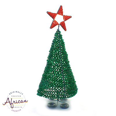 Beaded 3D Christmas Tree (Green)
