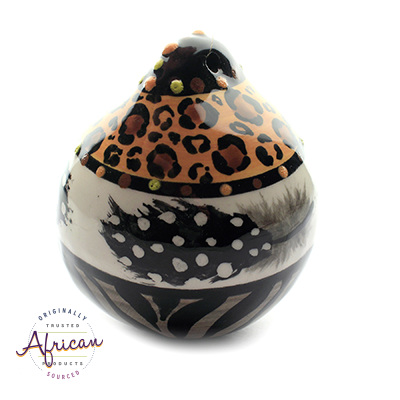 Ceramic Christmas Ball Decoration Tribal