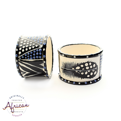 Ceramic Serviette Rings Ndebele (Set of 6)