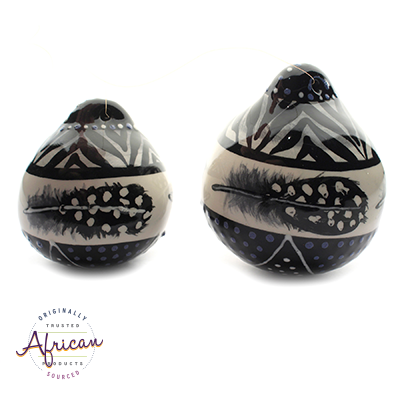 Ceramic Christmas Ball Decoration Ndebele