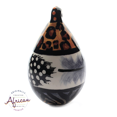Ceramic Christmas Tear Drop Decoration Tribal