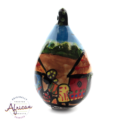 Ceramic Christmas Tear Drop Decoration Village