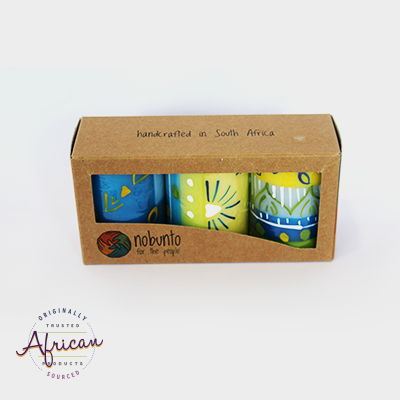 3 x Short Cylinder Candles in Recycled Gift Box - Ihlobo