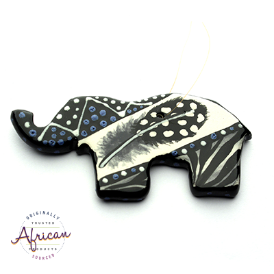 Ceramic Christmas Elephant Decoration Ndebele