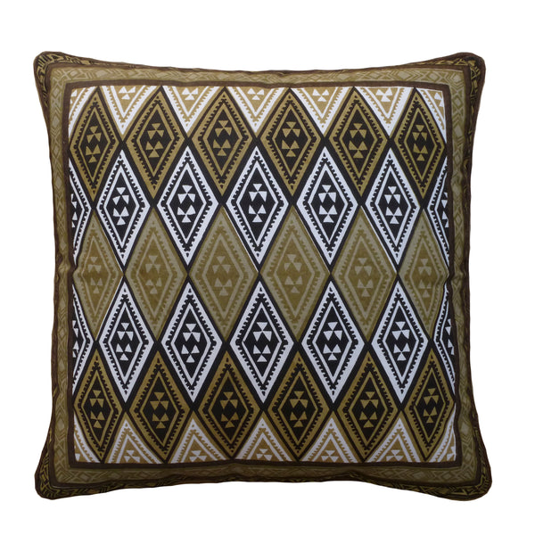 Kudhinda Cushion Cover 40x40cm –  Geometry (Charcoal)