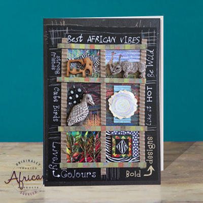 Hand Made African Greetings Card - Best African Vibes