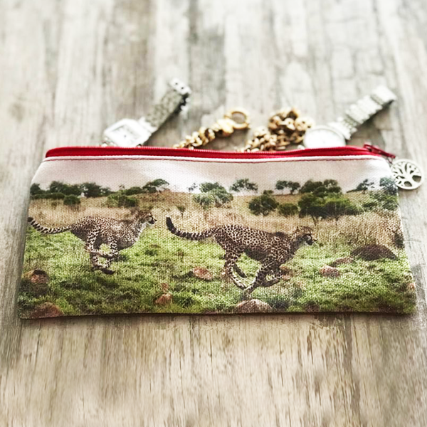 Stationery Bag/Pencil Case - Cheetahs (Sisters)