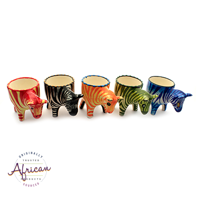 Ceramic Egg Holder Zebra